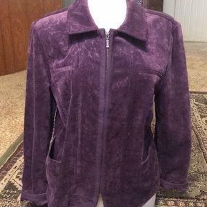 Beautiful Chico's grape corduroy jacket